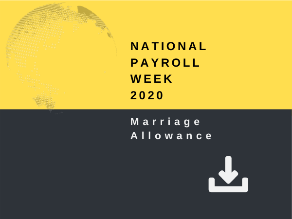National Payroll Week 2020 - Marriage Allowance